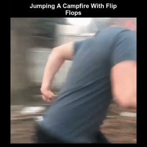 Funny, Memes, and Videos: Jumping A Campfire With Flip  Flops RT @StumblerFunny: For more funny videos follow @StumblerFunny or visit https://t.co/wXxwph26cH https://t.co/Jb1TRpmosW