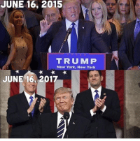 America, Memes, and New York: JUNE 16, 2015  TRUM P  New York, New York  JUNE 16, 2017 We witnessed the biggest upset in history!🇺🇸🇺🇸🇺🇸 liberal maga conservative constitution like follow presidenttrump resist stupidliberals merica america stupiddemocrats donaldtrump trump2016 patriot trump yeeyee presidentdonaldtrump draintheswamp makeamericagreatagain trumptrain triggered Partners --------------------- @too_savage_for_democrats🐍 @raised_right_🐘 @conservativemovement🎯 @millennial_republicans🇺🇸 @conservative.nation1776😎 @floridaconservatives🌴
