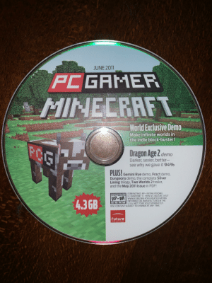minecraft pc gamer demo world