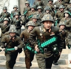 Korean, Korean War, and War: June 25th 1950 North Korean fighters advance passed the 38th Parallel, commencing the Korean War (colourized)
