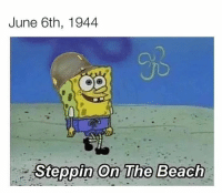 American, Beach, and The Beach: June 6th, 1944  OjC  Steppin On The Beach An american soldier wondering in the beach of Normandie moments before getting shot (june 6th 1944 colorized)