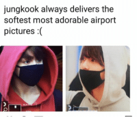 Blue, Pictures, and Bts: jungkook always delivers the  softest most adorable airport  pictures :(  BLUE #JUNGKOOK #BTS