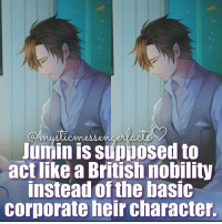⠀ ⠀ ⠀⠀◤┈🌸 Mystic Messenger Fact 🌸┈◢ ⠀⠀⠀━━━━━━━━━━━━━━━━ ⠀ ⠀⠀⠀❥ Jumin Han ⠀⠀ ⠀⠀⠀━━━━━━━ ⠀ ⠀⠀⠀❀Admin's Notes┋ ✧.‿➹⁀*•.🔥 ⠀ ⠀⠀⠀ 🌟┋(Info by: @rika.offical) BO I Its so hodm here tf it doesnt stop snowing ⠀⠀⠀⠀⠀⠀⠀⠀⠀⠀ ━━━━━━━━━━━━━━━━━━━━ ⠀⠀⠀⠀⠀⠀⠀⠀⠀⠀ ┉┉┉『❀』┉┉┉ ⠀⠀⠀⠀⠀ ‿➹⁀ MysticMessenger Zen RyuHyun JaeheeKang JuminHan Yoosung YoosungKim Seven 707 LucielChoi SaeyoungChoi SaeranChoi Saeran Rika V Otome OtomeGame Facts MysticMessengerFact ProtectV2k16 Anime ┉┉┉『❀』┉┉┉ ⠀⠀⠀⠀⠀⠀⠀⠀⠀⠀ ━━━━━━━━━━━━━━━━━━━━ ⠀⠀⠀⠀⠀⠀⠀ ⠀⠀⠀⠀⠀⠀⠀⠀⠀⠀: Junin IS Supposed to  act like British nobility  instead of the basic  Corporate heir character. ⠀ ⠀ ⠀⠀◤┈🌸 Mystic Messenger Fact 🌸┈◢ ⠀⠀⠀━━━━━━━━━━━━━━━━ ⠀ ⠀⠀⠀❥ Jumin Han ⠀⠀ ⠀⠀⠀━━━━━━━ ⠀ ⠀⠀⠀❀Admin's Notes┋ ✧.‿➹⁀*•.🔥 ⠀ ⠀⠀⠀ 🌟┋(Info by: @rika.offical) BO I Its so hodm here tf it doesnt stop snowing ⠀⠀⠀⠀⠀⠀⠀⠀⠀⠀ ━━━━━━━━━━━━━━━━━━━━ ⠀⠀⠀⠀⠀⠀⠀⠀⠀⠀ ┉┉┉『❀』┉┉┉ ⠀⠀⠀⠀⠀ ‿➹⁀ MysticMessenger Zen RyuHyun JaeheeKang JuminHan Yoosung YoosungKim Seven 707 LucielChoi SaeyoungChoi SaeranChoi Saeran Rika V Otome OtomeGame Facts MysticMessengerFact ProtectV2k16 Anime ┉┉┉『❀』┉┉┉ ⠀⠀⠀⠀⠀⠀⠀⠀⠀⠀ ━━━━━━━━━━━━━━━━━━━━ ⠀⠀⠀⠀⠀⠀⠀ ⠀⠀⠀⠀⠀⠀⠀⠀⠀⠀