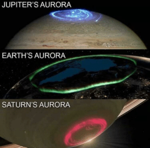 photos-of-space:  So beautiful: JUPITER'S AURORA  EARTH'S AURORA  SATURN'S AURORA photos-of-space:  So beautiful