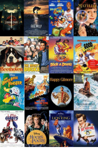 If you had to choose ONE, which movie would you watch right now?: JURAS PARK  FREE WIlly  ER!  THE MIGHT  Beethoven OUGKS  cd onci  Hocus  POCUS  BUNNY JORDAN  Rock ADooDIE  Happy Gilmore  LION KING  MATILDA  Edition! A If you had to choose ONE, which movie would you watch right now?