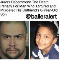 Jurors Recommend The Death Penalty For Man Who Tortured and Murdered His Girlfriend's 8-Year-Old Son - blogged by @MsJennyb ⠀⠀⠀⠀⠀⠀⠀ ⠀⠀⠀⠀⠀⠀⠀ Last month, 37-year-old Isauro Aguirre was convicted of first-degree murder, four years after his girlfriend's 8-year-old son died from repeated abuse. ⠀⠀⠀⠀⠀⠀⠀ ⠀⠀⠀⠀⠀⠀⠀ Gabriel Fernandez was found inside his Palmdale home on May 22, 2013, with a cracked skull, broken ribs, burned skin, missing teeth and BB gun pellets in his groin area, LA Times reports. During Aguirre's trial, prosecutors detailed the abuse Fernandez suffered at the hands of his mother and her boyfriend, Aguirre. ⠀⠀⠀⠀⠀⠀⠀ ⠀⠀⠀⠀⠀⠀⠀ Fernandez was forced to eat cat feces and his own throw-up. The couple also made the young boy sleep in a cabinet with his hands and ankles bound. Prosecutors also revealed Fernandez was punched in the face so hard that it tore the skin from his chin and nose. Two days after officials found Fernandez in the home, the little boy died from his injuries. ⠀⠀⠀⠀⠀⠀⠀ ⠀⠀⠀⠀⠀⠀⠀ On Wednesday, Aguirre's penalty for his conviction was read before the court. Although the defense asked for a less severe sentence, as Aguirre suffers from a learning disability, the jurors voted on the death penalty for the brutal murder and torture of Gabriel Fernandez. ⠀⠀⠀⠀⠀⠀⠀ ⠀⠀⠀⠀⠀⠀⠀ According to the LATimes, Fernandez's case also led to criminal charges against L.A. County social workers, since they left Fernandez at the home after six investigations into abuse involving his mother, who is also charged with murder.: Jurors Recommend The Death  Penalty For Man Who Tortured and  Murdered His Girlfriend's 8-Year-Old  Son  @balleralert Jurors Recommend The Death Penalty For Man Who Tortured and Murdered His Girlfriend's 8-Year-Old Son - blogged by @MsJennyb ⠀⠀⠀⠀⠀⠀⠀ ⠀⠀⠀⠀⠀⠀⠀ Last month, 37-year-old Isauro Aguirre was convicted of first-degree murder, four years after his girlfriend's 8-year-old son died from repeated abuse. ⠀⠀⠀⠀⠀⠀⠀ ⠀⠀⠀⠀⠀⠀⠀ Gabriel Fernandez was found inside his Palmdale home on May 22, 2013, with a cracked skull, broken ribs, burned skin, missing teeth and BB gun pellets in his groin area, LA Times reports. During Aguirre's trial, prosecutors detailed the abuse Fernandez suffered at the hands of his mother and her boyfriend, Aguirre. ⠀⠀⠀⠀⠀⠀⠀ ⠀⠀⠀⠀⠀⠀⠀ Fernandez was forced to eat cat feces and his own throw-up. The couple also made the young boy sleep in a cabinet with his hands and ankles bound. Prosecutors also revealed Fernandez was punched in the face so hard that it tore the skin from his chin and nose. Two days after officials found Fernandez in the home, the little boy died from his injuries. ⠀⠀⠀⠀⠀⠀⠀ ⠀⠀⠀⠀⠀⠀⠀ On Wednesday, Aguirre's penalty for his conviction was read before the court. Although the defense asked for a less severe sentence, as Aguirre suffers from a learning disability, the jurors voted on the death penalty for the brutal murder and torture of Gabriel Fernandez. ⠀⠀⠀⠀⠀⠀⠀ ⠀⠀⠀⠀⠀⠀⠀ According to the LATimes, Fernandez's case also led to criminal charges against L.A. County social workers, since they left Fernandez at the home after six investigations into abuse involving his mother, who is also charged with murder.