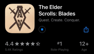 Just a heads up that The Elder Scrolls has officially come to mobile!: Just a heads up that The Elder Scrolls has officially come to mobile!