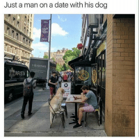 I see nothing wrong here. (@dogsbeingbasic) puppy: @mrduketastic: Just a man on a date with his dog  MEADOWS  ARISTA I see nothing wrong here. (@dogsbeingbasic) puppy: @mrduketastic