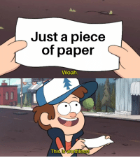 Just a piece  of paper  Woah  This is worthless! This template has potential, B U Y! U Y