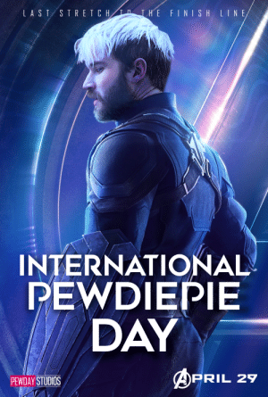 Just a reminder that International Pewdiepie Day is coming up (April 29)! image credits: u/national-pewds-day: Just a reminder that International Pewdiepie Day is coming up (April 29)! image credits: u/national-pewds-day