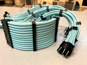 Just an FYI: you can use Rit fabric dyes on white PSU extension cables. Still waiting on the case before I can put this theme build together!: Just an FYI: you can use Rit fabric dyes on white PSU extension cables. Still waiting on the case before I can put this theme build together!