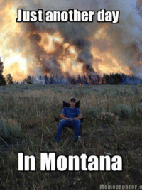Credit: Derek Brown: Just another day  In Montana  Meme creator o Credit: Derek Brown