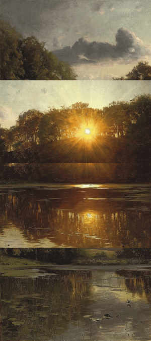 just-art5:  Peder Mønsted - Sunset over a forest lake, 1895 (details): just-art5:  Peder Mønsted - Sunset over a forest lake, 1895 (details)