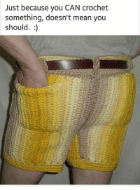 Wtf lol: Just because you CAN crochet  something, doesn't mean you  should. Wtf lol