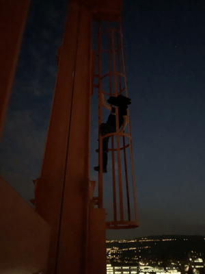 just chillin ontop of a crane with a friendo. anyone wanna talk cuz im bored and he's sleeping: just chillin ontop of a crane with a friendo. anyone wanna talk cuz im bored and he's sleeping