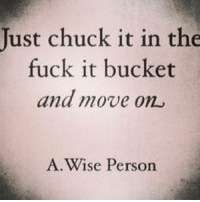 ~gin~: Just chuck it in the  fuck it bucket  and move on  A Wise Person ~gin~