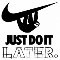 Just do it: JUST DO IT  LATER,