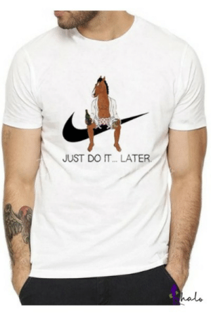 novelty-gift-ideas:Just do it… later t-shirt: JUST DO IT.. LATER  halo novelty-gift-ideas:Just do it… later t-shirt