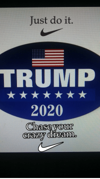 Just do it: Just do it.  TRUMP  2020