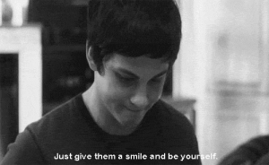 https://iglovequotes.net: Just give them a smile and be yourself. https://iglovequotes.net