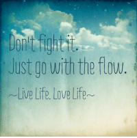 go with the flow: Just go with the flow  Live Life, Love Life