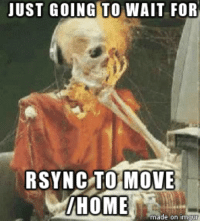 JUST GOING TO WAIT FOR RSYNC TO MOVE HOME Made on Im So I Am