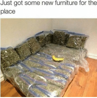 Fire, Memes, and Smell: Just got some new furniture for the  place Imagine the smell of setting this nigga house on fire😩