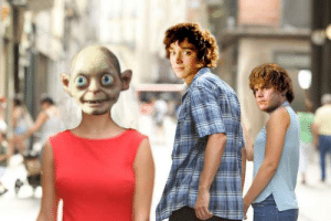 Jealous, Book, and Lord of the Rings: Just got to the section of the book where Sam acts like a jealous boyfriend. So had to make this