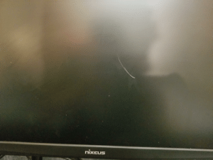 Just gouged my $300 gaming monitor with scissors while trying to cut cable ties after setting up my new monitor stand.: Just gouged my $300 gaming monitor with scissors while trying to cut cable ties after setting up my new monitor stand.