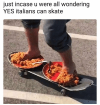 Skate, Yes, and Can: just incase u were all wondering  YES italians can skate