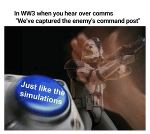 Just like the simulations: Just like the simulations