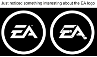 Just noticed something interesting about the EA logo  TM