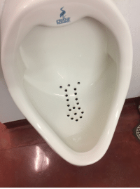 Just noticed the shape of the holes in the urinal at the office... Slightly NSFW