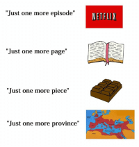 """Welcome to Rough Roman Memes, come like the page you lovable plebeians: """"Just one more episode""""  NETFLIX  """"Just one more page""""  """"Just one more piece""""  """"Just one more province"""" Welcome to Rough Roman Memes, come like the page you lovable plebeians"""