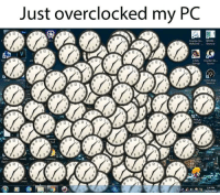 Dogs, Watch, and Cent: Just overclocked my PC  12  12 1  il 12  12  12  o c  Counter SPEED  12  12  li 12  trangeSeuce  12  112  1121  12  12  12  12 i  watch dogs  12  6s/11 12 |  12  12  6 5  Il 12 1  12  12  1 12  Ii iz  onent Cent  12  12  12  12  İl 12  34 PM  40001S I overclocked my PC but now its running slower, I dont get it