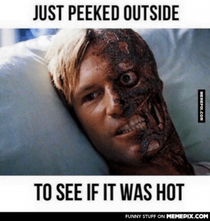 UK today…omg-humor.tumblr.com: JUST PEEKED OUTSIDE  TO SEE IF IT WAS HOT  FUNNY STUFF ON MEMEPIX.COM  MEMEPIX.COM UK today…omg-humor.tumblr.com