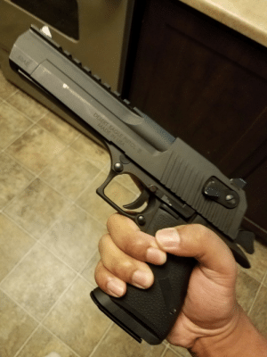 Tumblr, Blog, and Eagle: just-remington:  Have a photo of my Desert Eagle.  fuckin cannon