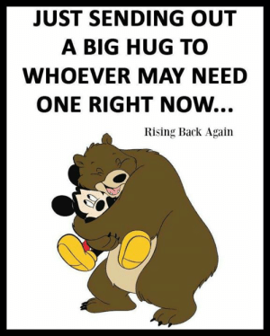 Memes, Back, and 🤖: JUST SENDING OUT  A BIG HUG TO  WHOEVER MAY NEED  ONE RIGHT NOW...  Rising Back Again Sending  Hugs  to who may need one right now  <3