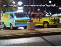srsfunny:We Spared No Expense: Just Shaggy  and John Hammond at Taco Bell... srsfunny:We Spared No Expense