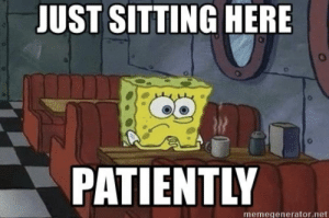 Me waiting for all the now eaten, $150k banana 🍌 on the wall memes to come pouring in...!: JUST SITTING HERE  PATIENTLY  memegenerator.net Me waiting for all the now eaten, $150k banana 🍌 on the wall memes to come pouring in...!