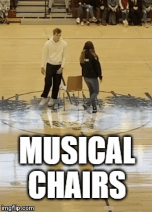 Just some old regular musical chairs: Just some old regular musical chairs