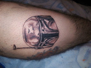 Tattoo, Boba Fett, and Thought: Just thought I would share my Boba Fett tattoo my brother did for me not sure if its allowed but sure to be appreciated.