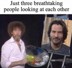 Memes, 🤖, and Looking: Just three breathtaking  people looking at each other https://t.co/uWQ0n98YQY