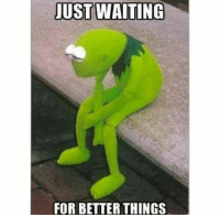 Kermit the Frog: JUST WAITING  FOR BETTER THINGS