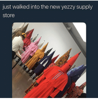 Funny, Goals, and Love: just walked into the new yezzy supply  store Just bought this new hoodie, here in my garage @larnite • ➫➫➫ Follow @Staggering for more funny posts daily! • (Ignore: memes like4like funny music love comedy goals fortnite)