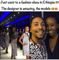 Fashion, Friends, and Memes: Just went to a fashion show in Ethiopia  The designer is amazing, the models Shoutout to @selam_le_selam for an amazing show :) she is a brilliant designer. Ok so if you didn't know Ethiopia is home to a whole nation of stunning people, it's a bit mad 😳 When me and my friends came here last year we were so shocked, that we didn't even really talk to anyone. If you have been you will know what I mean. When I post the video you will see what I mean.