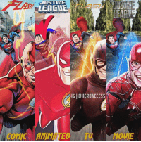 All four are just amazing⚡️ which Flash incarnation has been your favorite? For me, I gotta say the TV show. I love it way too much❤️ ~ Lopro⚡️ (dope artwork by the one and only @timetravel6000_v2 ): JUSTICE  AGUE  IGI CHEROACCESS  COMIC ANIMATED TU  OUE All four are just amazing⚡️ which Flash incarnation has been your favorite? For me, I gotta say the TV show. I love it way too much❤️ ~ Lopro⚡️ (dope artwork by the one and only @timetravel6000_v2 )