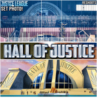 A Dream, Memes, and News: JUSTICE LEAGUE  RESHOOTS  SET PHOTO!  HALLOFUUSTICE  IG ODC MARVEL UNITE 🚨BREAKING NEWS🚨 New JusticeLeague Reshoot Set Photos give us our Possible First Look at what looks to be The HallofJustice ! 😱 Imagine if at the end of the Movie, The JL is honored by the World for saving it and they get the Hall of Justice just like in The Animated Movie JusticeLeagueWAR ! That would be a Dream Come True…I hope we get to see TheWatchTower in the DCEU as well ! DCExtendedUniverse 💥 DCFilms DC