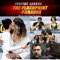 "Alive, Batman, and Instagram: JUSTICE LEAGUE  THE FLASHPOINT  PARADOX  Heroic, Gatewav/Instagram  NATIONAL  RNATIONA  DIEG  DIE G  D I  ONAL. INTER  TERNATION  lourencohanpost  E G 0  D IE For the uninitiated, ""Flashpoint"" is a time-twisting 2011 DC Comics crossover event that was written by Chief Creative Officer Geoff Johns, with art by Andy Kubert and immediately preceded the New 52 initiative (which, ironically, just ended in 2016). In the story, Barry Allen wakes up in an alternate reality where his mother is still alive and he doesn't have his powers, which means he isn't The Flash. However, those aren't the only changes. In this topsy-turvy world, Superman is a scrawny boy because he's never seen the sun since the government captured him when he landed on Earth; Thomas Wayne is a ruthless version of the Batman because his son Bruce murdered and wife Martha becomes the Joker; Aquaman and Wonder Woman are at war; and Cyborg is the world's most popular superhero — like we said, topsy turvy. The twist in the story is that Barry discovers he caused this alternate reality when he traveled back in time to save his mom from being murdered. So, Barry embarks on a quest to regain his powers and restore the timeline before Aquaman and Wonder Woman's war destroys the planet, which is a likely possibility. While he succeeds in defeating the Reverse Flash, his attempts to fix the timeline still led to the continuity changes that were trademarks of the New 52, which rebooted the entire DC Comics universe. Flashpoint flashpointparadox geoffjohns ezramiller barryallen theflash reverseflash thomaswayne marthawayne thejoker batman dccomics dccinematicuniverse dcextendeduniverse heroic_gateway @heroic.gateway - . . . . . -Make Sure to Give this Post a LIKE and be so kindly Leave your thoughts and comments below. Make sure to turn on Accounts Post-Notification for more of our Daily Awesome DCEU posts."