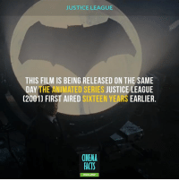 HYPE LEVEL: PURE SPEEDFORCE!⚡⚡⚡⚡⚡⚡⚡ JUSTICE LEAGUE TRAILER IS HERE - Batman Superman WonderWoman TheFlash GreenLantern Aquaman Cyborg Shazam MartianManHunter GreenArrow BlackCanary Mera JusticeLeague DCEU SuicideSquad Joker HarleyQuinn Deathstroke Deadshot Nightwing RedHood BatLogo: JUSTICE LEAGUE  THIS FILM IS BEING RELEASED ON THE SAME  DAY THE ANIMATED SERIES JUSTICE LEAGUE  (2001) FIRST AIRED SIXTEEN YEARS EARLIER.  CINEMA  FACTS  FO HYPE LEVEL: PURE SPEEDFORCE!⚡⚡⚡⚡⚡⚡⚡ JUSTICE LEAGUE TRAILER IS HERE - Batman Superman WonderWoman TheFlash GreenLantern Aquaman Cyborg Shazam MartianManHunter GreenArrow BlackCanary Mera JusticeLeague DCEU SuicideSquad Joker HarleyQuinn Deathstroke Deadshot Nightwing RedHood BatLogo